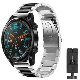 Huawei Watch GT2 ruostumattomasta teräksestä valmistettu rannekoru - hopea / sv