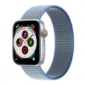 Apple Watch 5 (40 mm) nylonrannekoru - Tahoe Blue