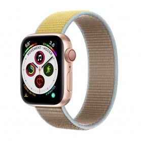 Apple Watch 5 (40 mm) nylonrannekoru - Camel