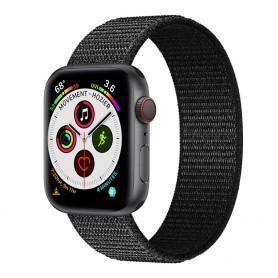 Apple Watch 5 (40 mm) nylonrannekoru - Dark black
