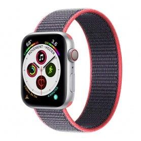 Apple Watch 5 (40 mm) nylonrannekoru - sähköinen vaaleanpunainen