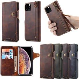 """Kannettava lompakko 3-kortti aito nahka Apple iPhone XI Max 2019 (6,5 """")"""