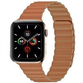 Apple Watch 5 (44mm) nahkainen silmukkahihna - musta