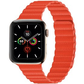 Apple Watch 5 (44mm) nahkainen silmukkahihna - ruskea