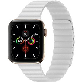 Apple Watch 5 (44mm) nahkainen silmukkahihna - Papaya
