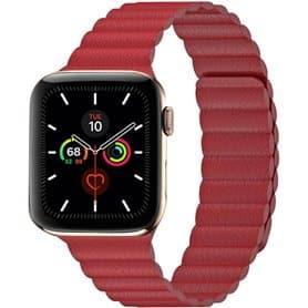 Apple Watch 5 (44mm) nahkainen silmukkahihna - Valkoinen