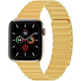Apple Watch 5 (44mm) nahkainen silmukkahihna - Viininpunainen