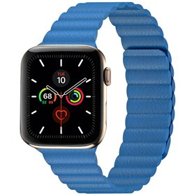 Apple Watch 5 (44mm) nahkainen silmukkahihna - Lemon