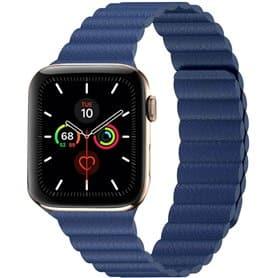 Apple Watch 5 (44mm) nahkainen silmukkahihna - Tahoe Blue