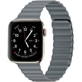 Apple Watch 5 (44mm) nahkainen silmukkahihna - Midnight blue