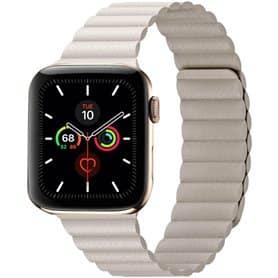 Apple Watch 5 (44mm) nahkainen silmukkahihna - Stone
