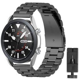 Ruostumaton teräsrannekoru Samsung Galaxy Watch 3 (41mm) - Musta