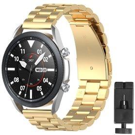 Ruostumaton teräsrannekoru Samsung Galaxy Watch 3 (41mm) - Kulta