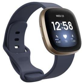 Sport Rannekoru Fitbit Versa 3 - Harmaa sininen