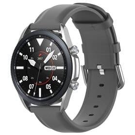 Nahkarannekoru Samsung Galaxy Watch 3 (45mm) - Harmaa