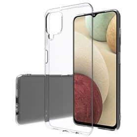 Silikonikotelo läpinäkyvä Samsung Galaxy A12