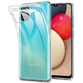 Silikonikotelo läpinäkyvä Samsung Galaxy A02s