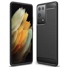 Harjattu TPU kuori Samsung Galaxy S21 Ultra