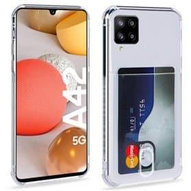 Silikonikotelo ja kolikkopaikka Samsung Galaxy A42