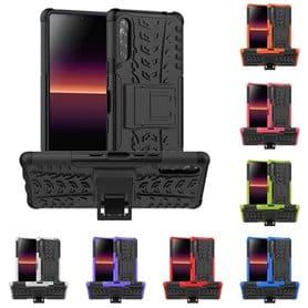 Iskunkestävä Suojakuori kotelo jalustalla Sony Xperia L4