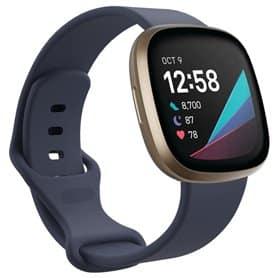 Sport Rannekoru Fitbit Sense - Harmaa sininen