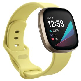 Sport Rannekoru Fitbit Sense - Creamy Yellow