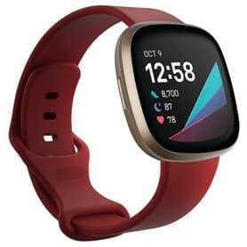 Sport Rannekoru Fitbit Sense - Tpunainen