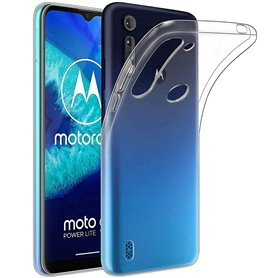 Silikonikotelo läpinäkyvä Motorola Moto G8 Power Lite