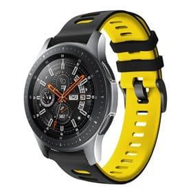 Twin Sport Rannekoru Armband Samsung Galaxy Watch 46 - Musta/keltonen
