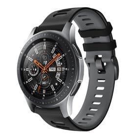 Twin Sport Rannekoru Armband Samsung Galaxy Watch 46 - Musta/harmaa