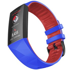 Twin Sport Rannekoru Armband Fitbit Charge 4- Sininen/punainen