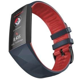Twin Sport Rannekoru Armband Fitbit Charge 4- Tummanharmaa/punainen