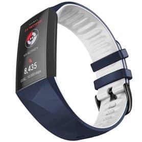 Twin Sport Rannekoru Armband Fitbit Charge 4- Sinivalkoinen